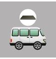 white van transport on road design vector image