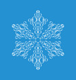 ornamental snowflake icon simple style vector image vector image