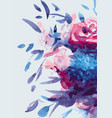 watercolors bouquet of multicolored flowers vector image