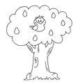 Partride in a pear tree cartoon vector image
