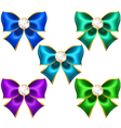 Festive bows with diamonds vector image