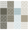 geometric seamless patterns with squares vector image