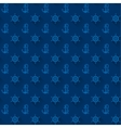 Seamless patterns blue anchors with shadow vector image vector image