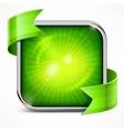 Square green icon vector image vector image