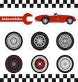 car wheel 02 01 vector image