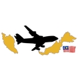 fly me to the Malaysia vector image vector image