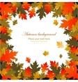 Background autumn leaves frame vector image