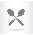 crossed spoons icon vector image