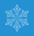 ornamental snowflake icon simple style vector image