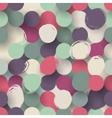 Seamless flat circle background vector image