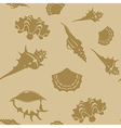 Shell seamless patter 6 vector image