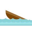 wreck of a boat cartoon vector image
