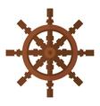 Yacht wheel icon isolated vector image