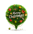 Christmas Bubble for speech vector image vector image
