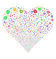 banking map marker fireworks heart vector image
