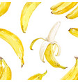 Watercolor banana pattern vector image