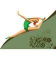 championship gymnastics vector image vector image