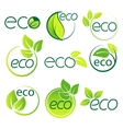 Ecology logo symbol set vector image