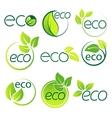 Ecology logo symbol set vector image