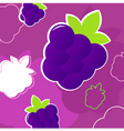 summer blackberry pattern vector image vector image