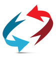 Arrows Red and Blue Double Arrow 3D Infinit vector image