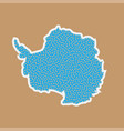 continent antarctica in a flat style vector image