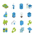 Ecology Isometric Icons Set vector image