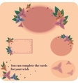 Gift cards flower design vector image