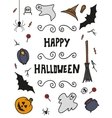Happy Halloween background design elements vector image