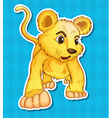 Lion cub vector image