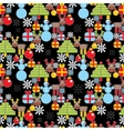 Seamless Christmas pattern in cell vector image