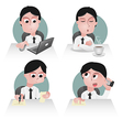 sedentary preview vector image