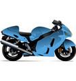 Sketch of modern motorcycle vector image
