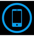 Smartphone flat blue color rounded icon vector image