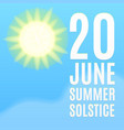 Summer solstice background vector image