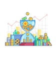 Time is money flat concept vector image vector image