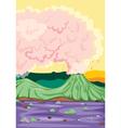 a volcano vector image vector image