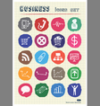 Business and media web icons set drawn by chalk vector image