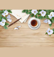 flat lay composition vector image