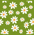 floral seamless pattern daisy field vector image