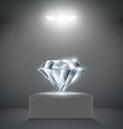 diamond on a pedestal vector image