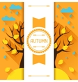 Seasonal with autumn tree in flat vector image