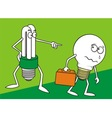 bulb cartoons vector image vector image