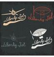 retro aviation grunge labels set vector image