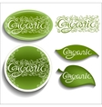 Organic Openwork inscription vector image