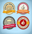 Retro Badges vector image vector image