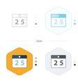 calendar icons 4 design vector image