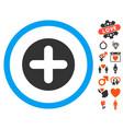 create icon with valentine bonus vector image