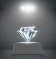diamond on a pedestal vector image