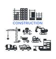 digital black construction building vector image